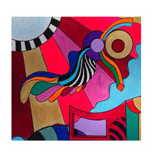 "Feminisms and Rhetoric #1 - Colorful Geometric Abstract, 30""x 24""  Avant Garde, Modern Wall Art by Skye Lucking"