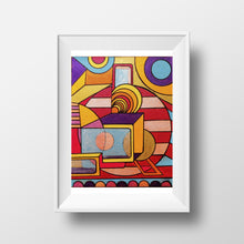 Everything Is Wonderful - Abstract Wall Art Print, Home Decor Wall Art, Living Room Decor, Modern Art, Surreal Art