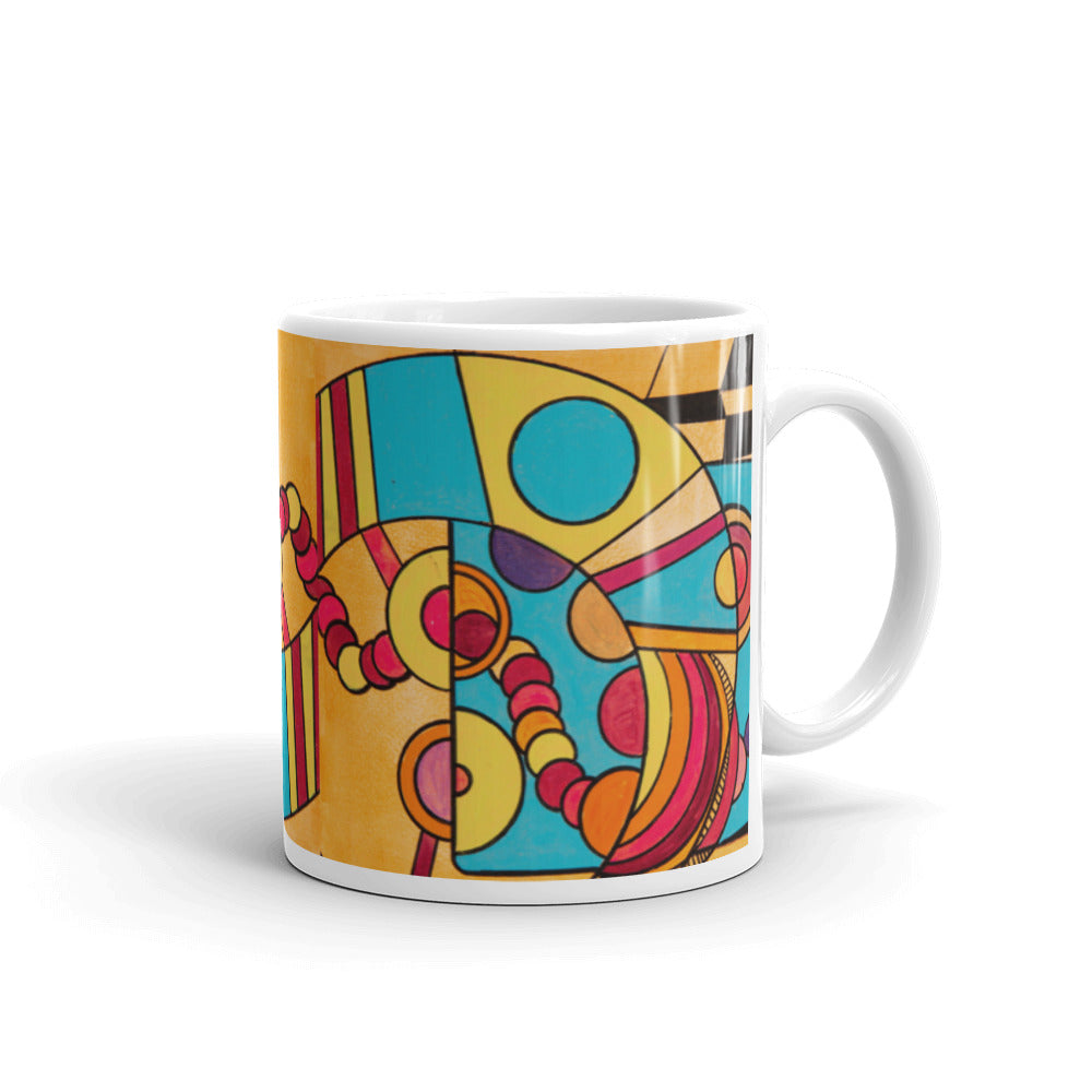 Cowboy on a Diet - Bright Orange Coffee Mug