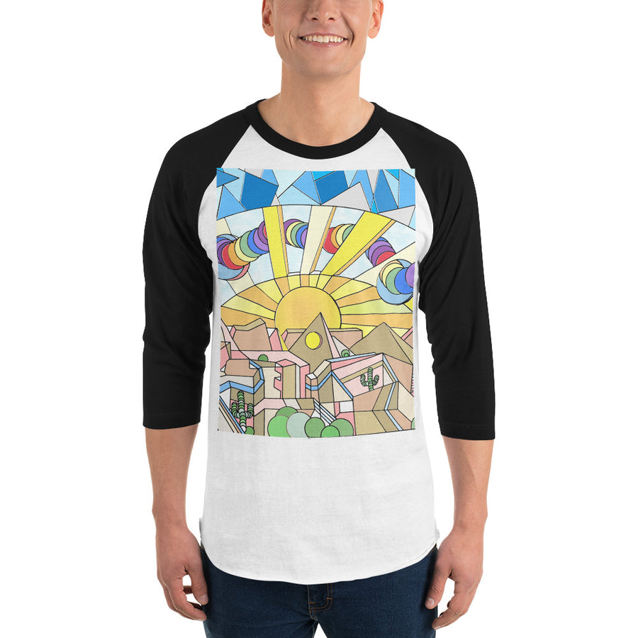 Everything All At Once - 3/4 sleeve raglan shirt