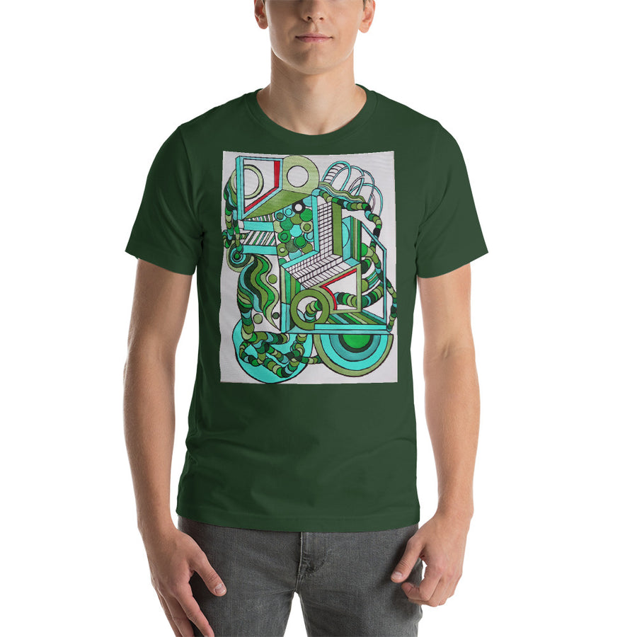 Geometric Greens Short-Sleeve Unisex T-Shirt