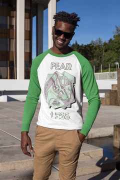 Fear Less - Mens 3/4 sleeve raglan shirt
