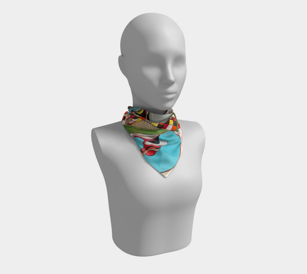 Fat Tuesday - Square Scarf