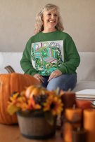 Geometric Greens Unisex Sweatshirt