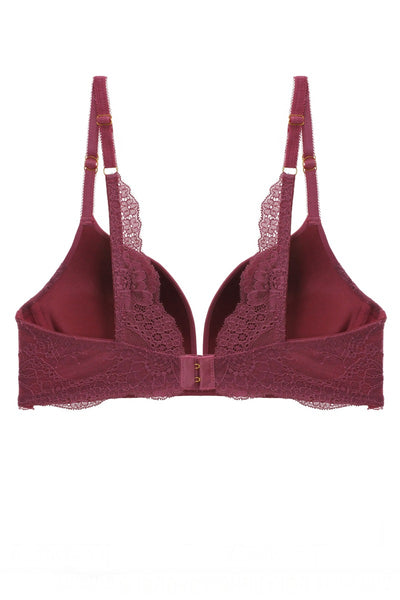 Solid Lace Demi Bra - LordVincent's