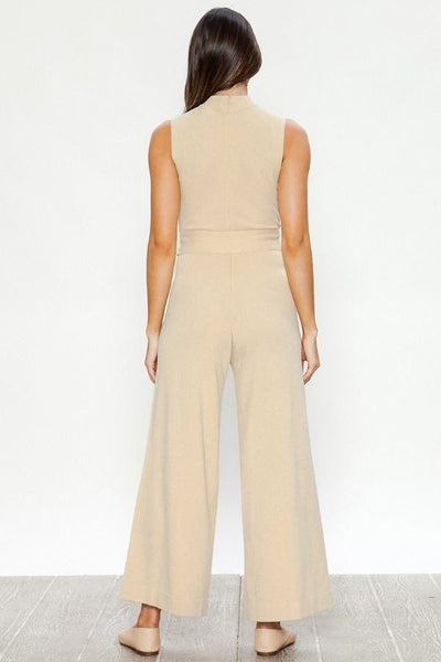 A Sweater Solid Jumpsuit - LordVincent's