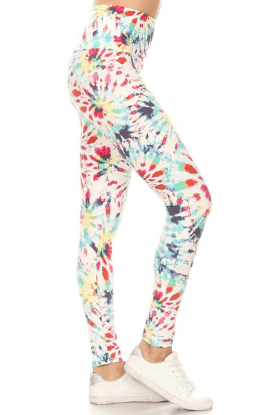 5-inch Long Yoga Style Banded Lined Camouflage Printed Knit Legging With High Waist - LordVincent's