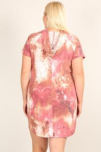 Plus Size Tie-dye Print Relaxed Fit Dress - LordVincent's
