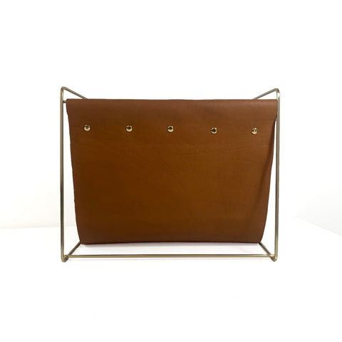 Magda Magazine Rack- Saddle