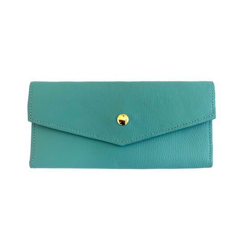 Charlotte Long Wallet - Aqua - Free Bird CA
