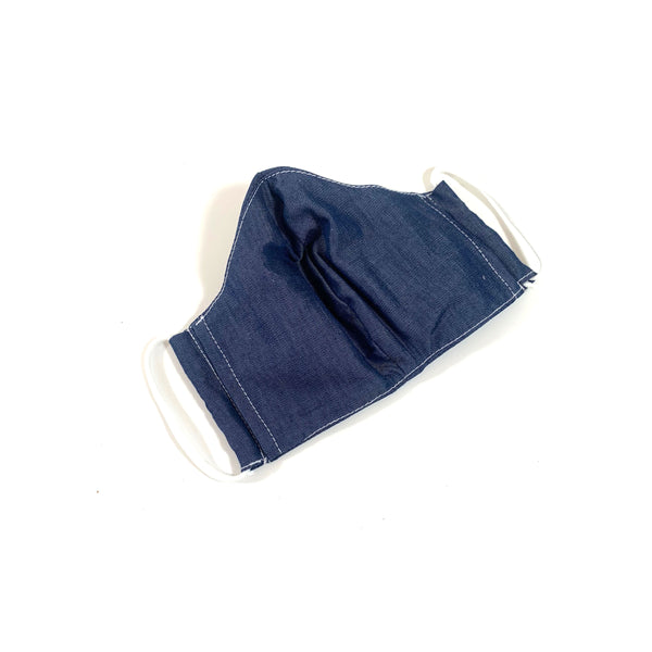 Cloth Face Mask - Blue Cotton
