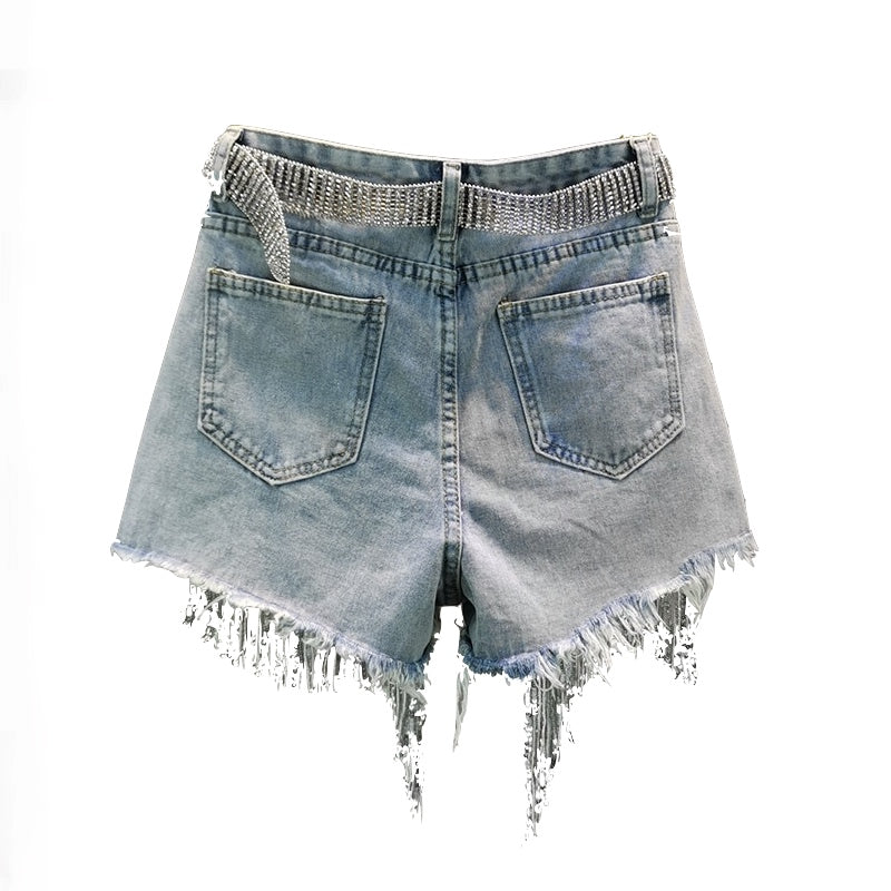 PEARL AND GLITTER SHORTS - SHOPVIIXEN