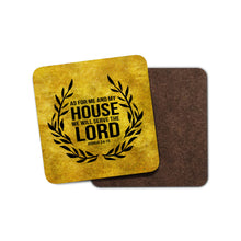 As For Me and My House Home Coaster, Christian quote coaster