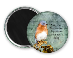 Bluebird Magnet, Refrigerator Magnet, Fine Art Magnets, Nature Magnet