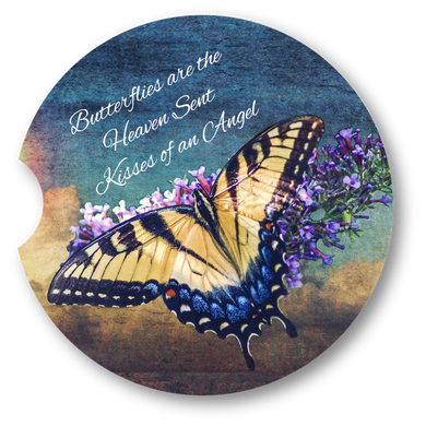Butterfly Sky- Sandstone car coaster