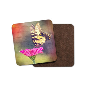 Butterfly Flower Drink Coaster