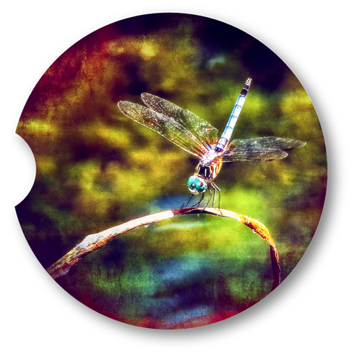 Dragonfly Dream- Sandstone car coaster