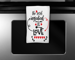 """Secret Ingredient is Love Kitchen"" Tea Towel"