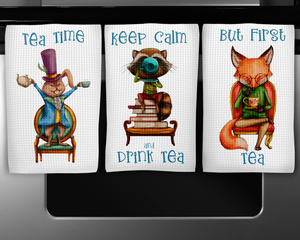 Fall Tea Party Tea Towels Set
