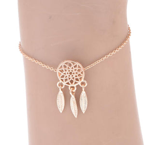 Gold or Silver Color 2 Piece Metal Dream Catcher Bracelets
