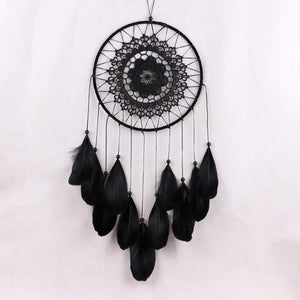 "White or Black Lace Flower Dream Catcher, 22"" Long"