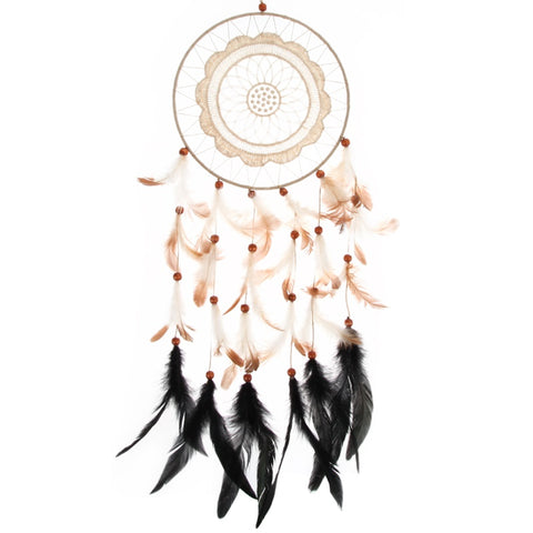Beautiful Dream Catcher with Lace Flower Pattern