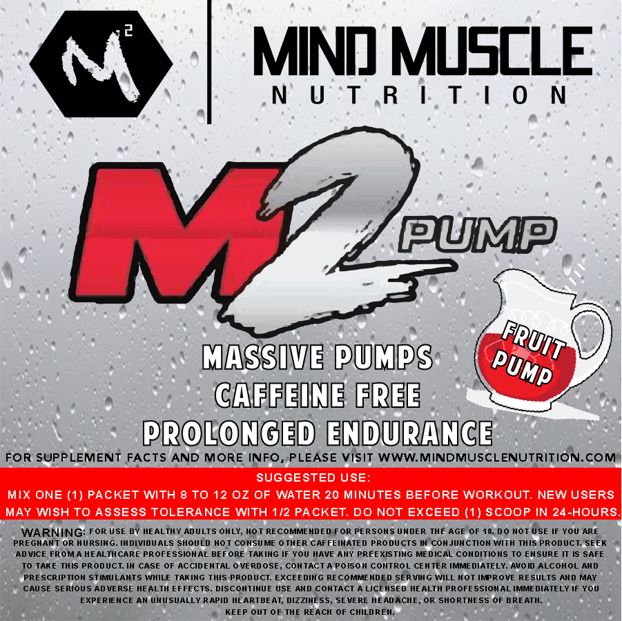 M2 PUMP (Non-Stimulant) SAMPLES