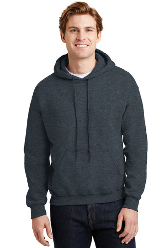 Blank black heather grey hoodie