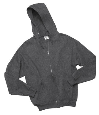 Blank heather grey full zip