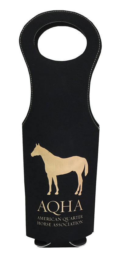 AQHA LEATHERETTE WINE BAG