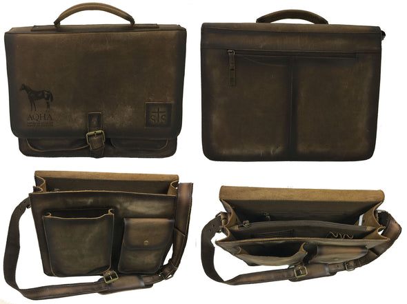 AQHA Foreman Leather Briefcase