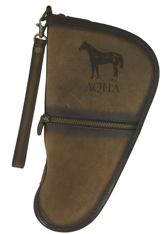 AQHA Medium Leather Pistol Case