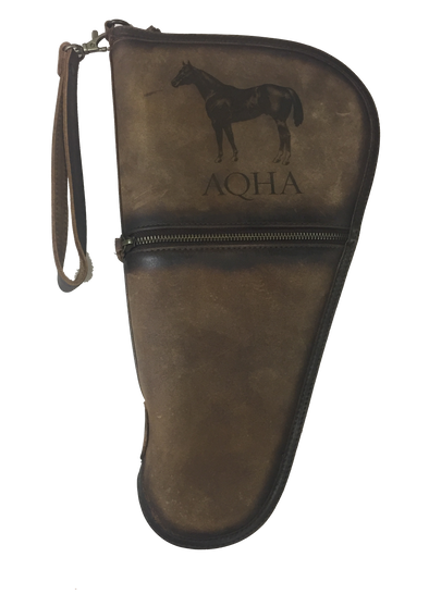 AQHA Large Leather Pistol Case