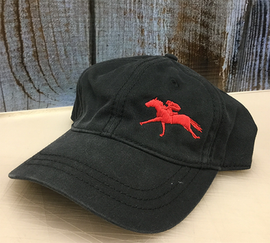 Red Unstructured Off Centered Racing Cap