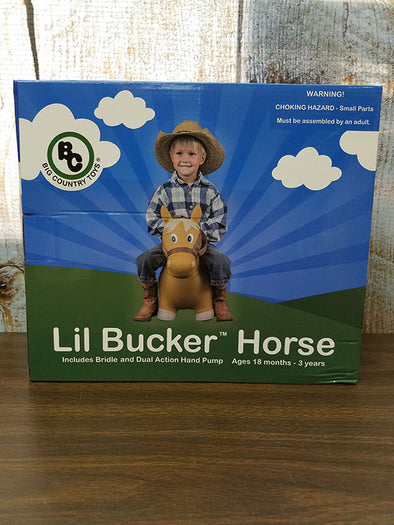 Lil Bucker Horse with window box Toy