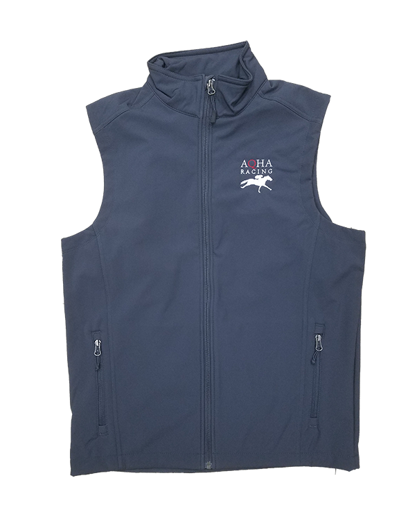 AQHA Racing Grey Soft Shell Vest