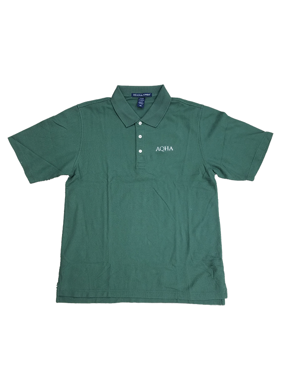 AQHA Forest Green Polo