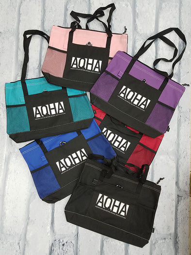 AQHA Boxed Mesh Zippered Tote