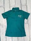 Stretched AQHA est 1940 Ladies Teal polo