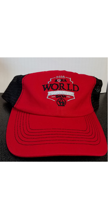 2018 WS Black and Red Mesh Cap