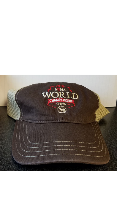 2018 WS Brown and Tan Mesh Cap