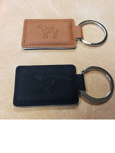 AQHA Leatherette Executive Keychain