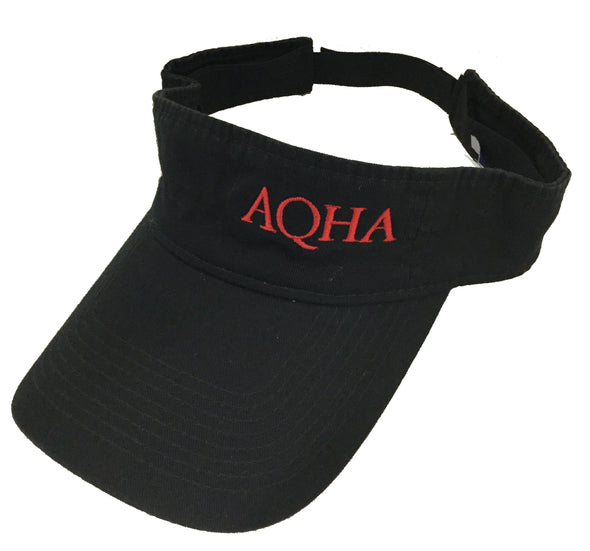 AQHA Red & Black Visor