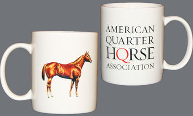 White AQHA Coffee Mug