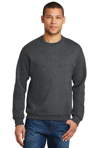 Blank heather grey crew neck sweatshirt