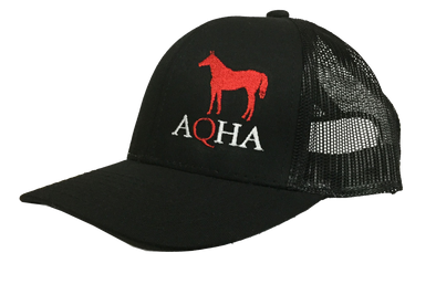 Black Mesh Cap Red Horse