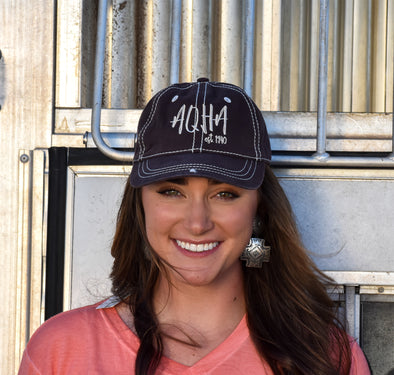 Stretched AQHA Chocolate Brown Stone Cap