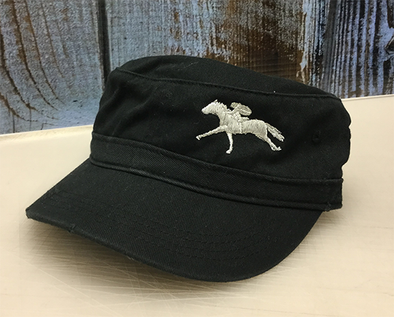 AQHA Grey Racing Conductor Cap