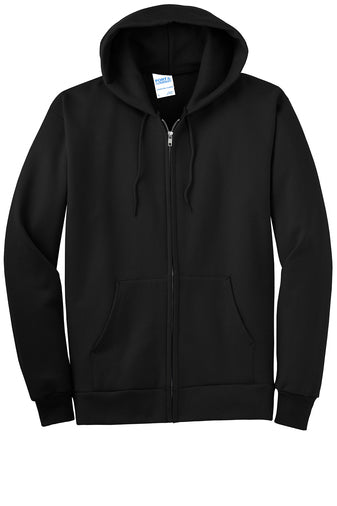 Blank black full zip