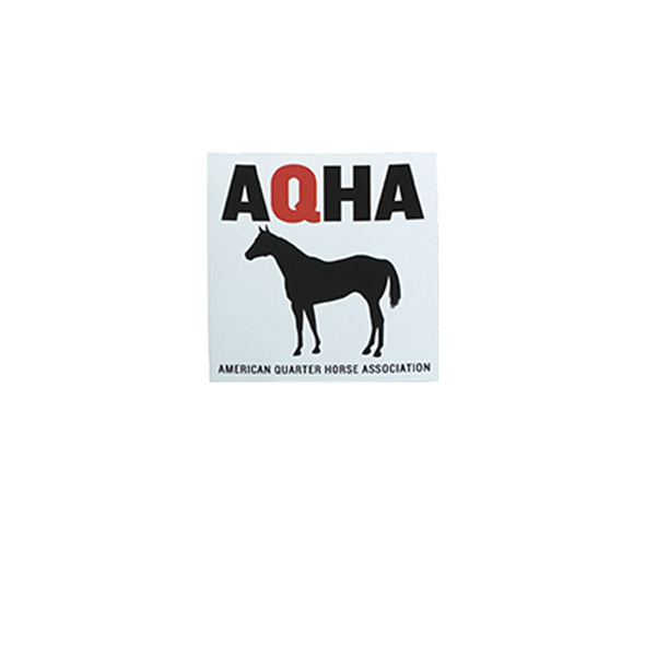 AQHA Black Horse Decal